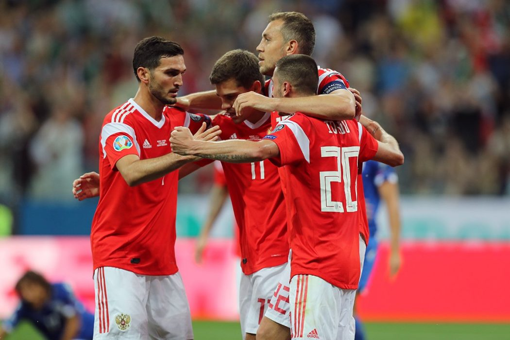 Single player teams. Which group did the Russian national team fall into at Euro 2020?